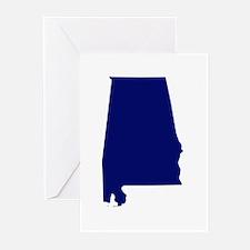 Alabama - Blue Greeting Cards (Pk of 20)