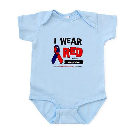 I wear red for my nephew Infant Bodysuit