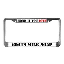 Love Goats Milk Soap License Plate Frame