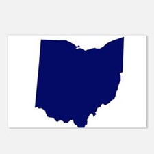 Ohio - Blue Postcards (Package of 8)
