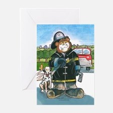 Firefighter, Male - Greeting Cards (Pk of 10)