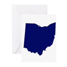 Ohio - Blue Greeting Cards (Pk of 10)