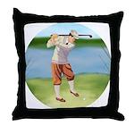 Vintage golfer Throw Pillow