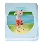 Vintage golfer baby blanket