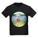 Vintage golfer Kids Dark T-Shirt