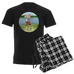 Vintage golfer Men's Dark Pajamas