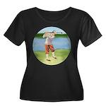 Vintage golfer Women's Plus Size Scoop Neck Dark T