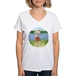 Vintage golfer Women's V-Neck T-Shirt
