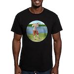 Vintage golfer Men's Fitted T-Shirt (dark)