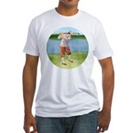 Vintage golfer Fitted T-Shirt