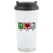 Peace Love Mom Travel Mug