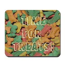 "Dog Treat ""Time For Treats"" Mousepad"