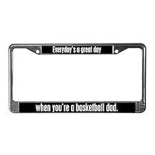 Basketball Dad License Plate Frame
