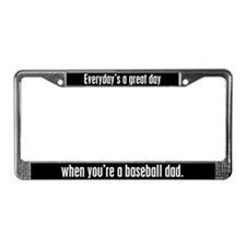 Baseball Dad License Plate Frame