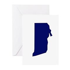 Rhode Island - Blue Greeting Cards (Pk of 10)