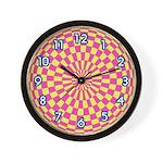 OP ART SERIES:  Pink & Yellow W. Clock