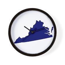 Virginia - Blue Wall Clock