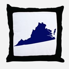 Virginia - Blue Throw Pillow