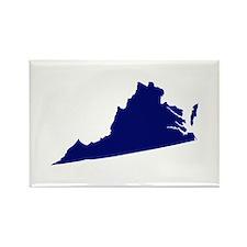 Virginia - Blue Rectangle Magnet
