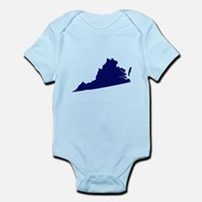 Virginia - Blue Infant Bodysuit