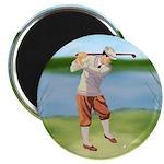 Vintage golfer Magnet