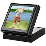 Vintage golfer Keepsake Box