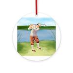 Vintage golfer Ornament (Round)
