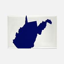 West Virginia - Blue Rectangle Magnet