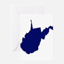 West Virginia - Blue Greeting Card