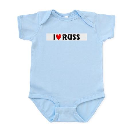 I Love Russ Infant Creeper