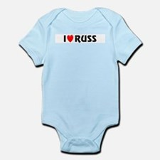 I Love Russ Infant Creeper