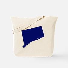 Connecticut - Blue Tote Bag
