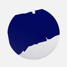 Connecticut - Blue Ornament (Round)