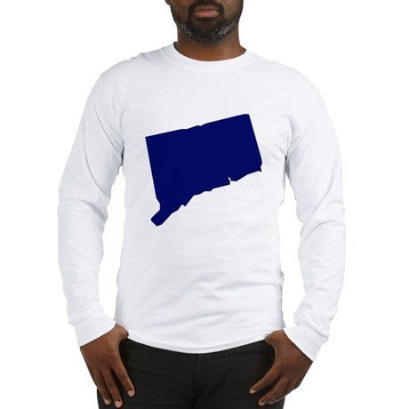 Connecticut - Blue Long Sleeve T-Shirt