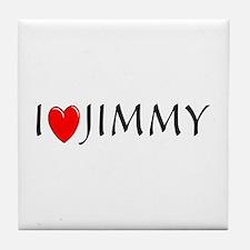 I Love Jimmy Tile Coaster