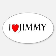 I Love Jimmy Oval Decal
