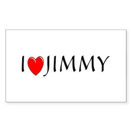 I Love Jimmy Rectangle Sticker