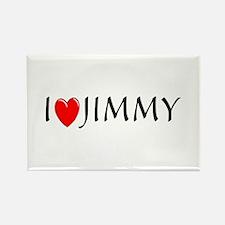 I Love Jimmy Rectangle Magnet