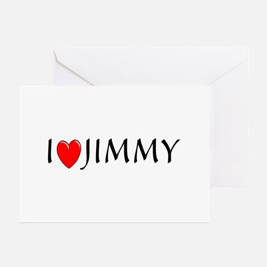 I Love Jimmy Greeting Cards (Pk of 10)