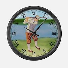 Vintage golfer Large Wall Clock