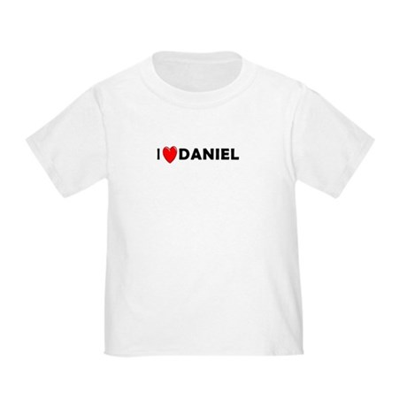 I Love Daniel Toddler T-Shirt