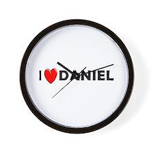 I Love Daniel Wall Clock