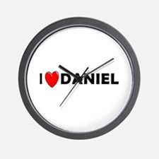 I Love Daniel Wall Clock