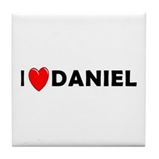 I Love Daniel Tile Coaster