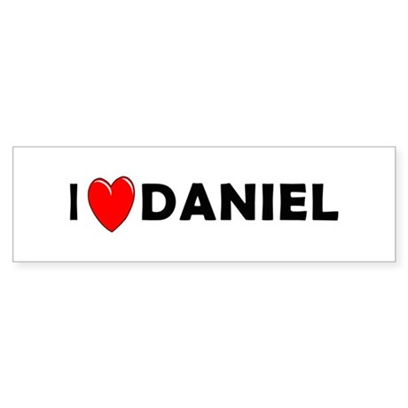 I Love Daniel Bumper Sticker