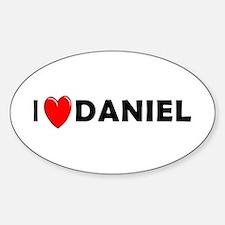 I Love Daniel Oval Decal