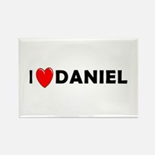 I Love Daniel Rectangle Magnet