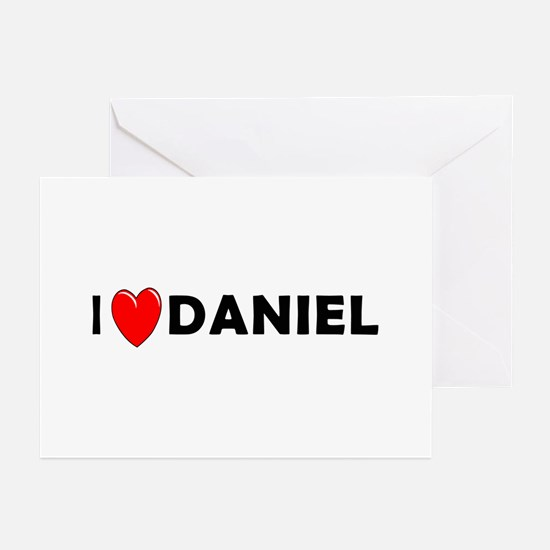 I Love Daniel Greeting Cards (Pk of 10)