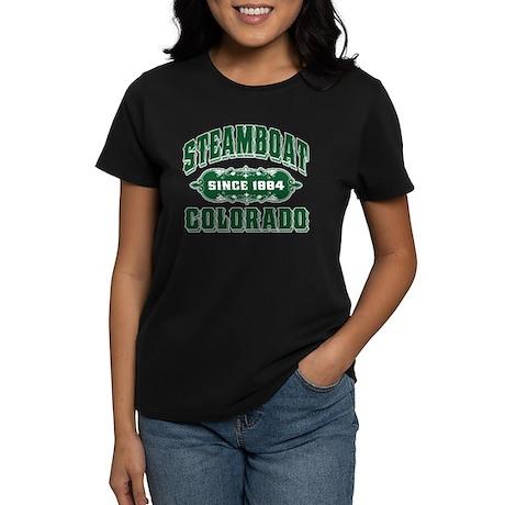 Steamboat Since 1884 Green Women's Dark T-Shirt