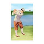 Vintage golfer Sticker (Rectangle 10 pk)